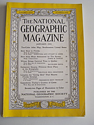 National Geographic, Vol. CXIII, No. 1, January 1958 (Image1)