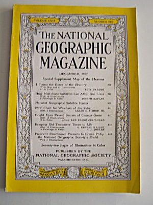National Geographic, Vol. CXII, No. 6, December 1957 (Image1)