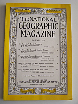 National Geographic, Vol. CXI, No. 1, January 1957 (Image1)