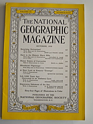 National Geographic, Vol. CX, No. 4, October 1956 (Image1)