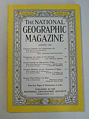 National Geographic, Vol. CVIII, No. 2, August 1955 (Image1)