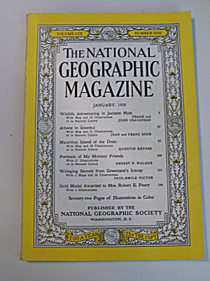 National Geographic, Vol. CIX, No. 1, January 1956 (Image1)