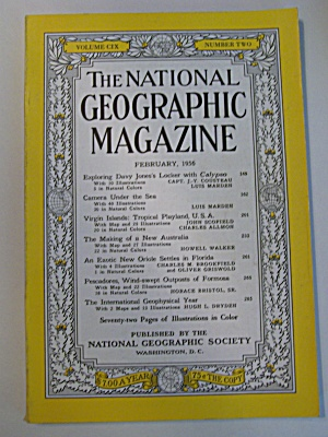 National Geographic, Vol. CIX, No. 2, February 1956 (Image1)