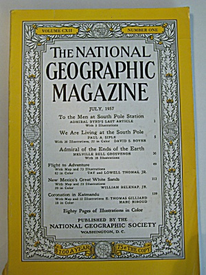 National Geographic, Vol. CXII, No. 1, July 1957 (Image1)