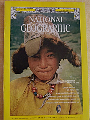 National Geographic, Vol. 151, No. 4, April 1977 (Image1)