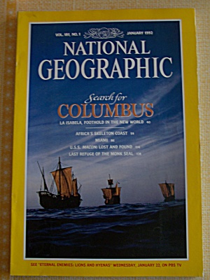 National Geographic, Vol. 181, No. 1, January 1992 (Image1)