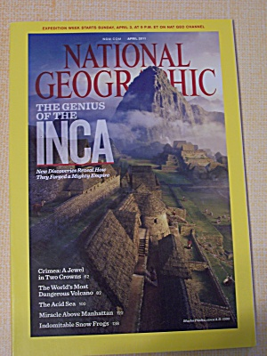 National Geographic, Volume 219, No. 4, April 2011 (Image1)