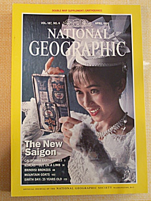 National Geographic, Volume 187, No. 4, April 1995 (Image1)