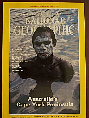 National Geographic, Volume 189, No. 6, June 1996 (Image1)