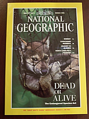 National Geographic, Volume 187, No. 3, March 1995 (Image1)