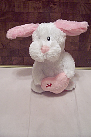 Animated White Rabbit w/Pink Ears & Heart (Image1)