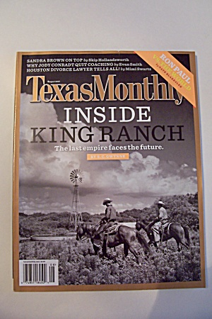 Texas Monthly, Vol. 35, Issue 8, August 2007 (Image1)