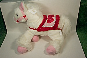White Stuffed Pony