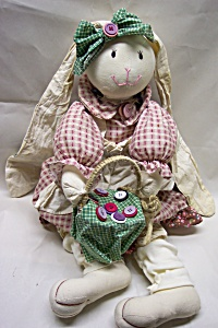 Handcrafted Stuffed Mother Rabbit