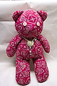 "Handcrafted ""handkerchief"" Stuffed Bear"