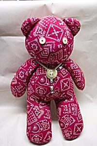 "Handcrafted ""Handkerchief"" Stuffed Bear (Image1)"