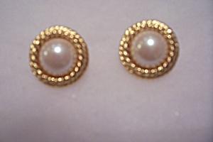 Richeliec Gold-Tone & Pearl Stud Earrings (Image1)
