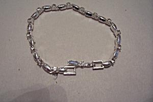 Avon Silver Link & Aurora Borealis Rhinestone Bracelet (Image1)
