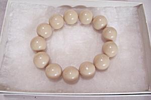 Beige Bead Stretch Bracelet (Image1)