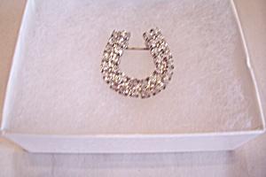 Avon Brilliant Rhinestone Horseshoe Pin (Image1)