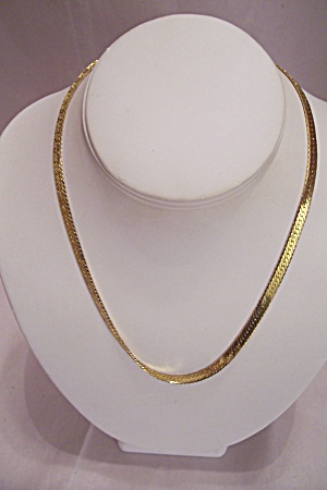 Gold Plated Fine Link - I Love You- Necklace (Image1)