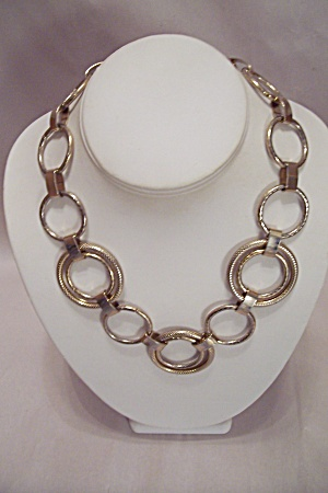Gold Tone Ring Necklace (Image1)