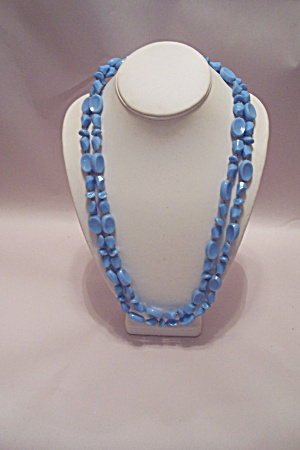 Light Blue Multi-shaped Beads Necklace