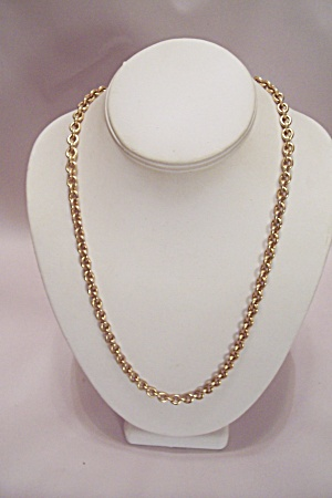 Heavy Large Link Gold Plated Chain Necklace