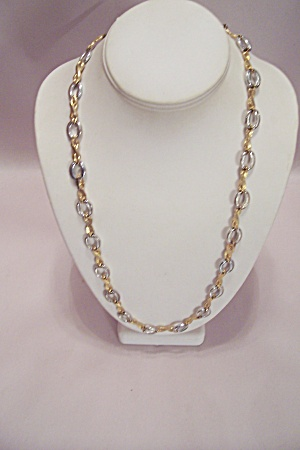 Goldtone & Silvertone Link Necklace