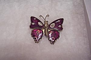 Enamel & Gold Tone Butterfly Brooch/Pin (Image1)