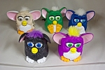 Nice set of 5 McDonald's collectible toy Furbies in assorted colors and mechanisms.  See photo for color variations.  Circa 1990s.
