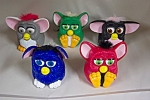 Nice set of 5 McDonald's Furbies issued in the 1990s.  Various colors and mechanisms.  As depicted in photo.
