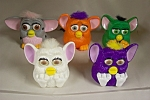 Nice set of 5 McDonald's collectible Furbies in various colors and with various mechanisms.  See photo for color variations.  Circa 1990s.