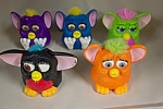 Click here to enlarge image and see more about item ASMCD018: Set Of Five McDonald's Furbies