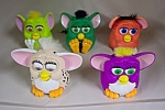 Nice set of 5 McDolald's collectible Furbies in various colors and with various mechanisms.  See photo for color variations.  Circa 1990s.