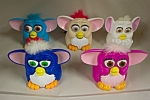 Nixe set of 5 collectible McDonald's Furbies of various colors and mechanisms.  See photo for color variations.  Circa 1990s.