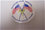 Click here to enlarge image and see more about item MIL004: Gulf War Support Our Troops  Operation Desert Storm Pin