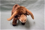 Cute stuffed longhorn named TEX.  Made for Russ Berrie Company by China.  12 inches long and 8 inches tall.  Circa 1990-2000.  Very clean and looks new.