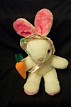 Very cute Wondertreats stuffed rabbit.  12 inches tall.  Made in china.  Like new condition.