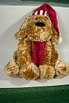 Plush Holiday Stuffed Dog