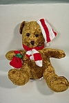 Very cute soft and plush holiday stuffed bear with stocking cap.  12 inches tall.  Made in China for Best Made Toys Limited, Ontario, Canada.  As new condition.  Circa 2000.