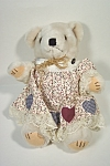 Click here to enlarge image and see more about item TSB0017: Girl Dressed Stuffed Bear