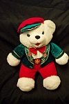 Click here to enlarge image and see more about item TSB0028: 2001 Christmas Stuffed Bear