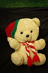 "Click here to enlarge image and see more about item TSB0031: ""Cuttle Wit"" Christmas Stuffed Bear"