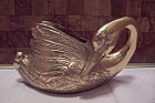 Brass Swan Cache Pot