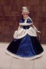 Barbie Doll In Royal Blue Gown
