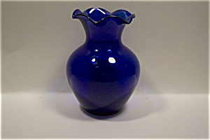 Cobalt Blue Art Glass Vase