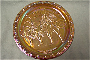 FENTON Spirit of '76 Carnival Art Glass Collector Plate (Image1)