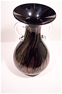 Murano Hand-Blown Cased Art Glass Vase (Image1)