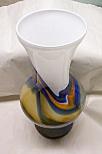 Large Handblown MURANO Cased Art Glass Vase (Image1)